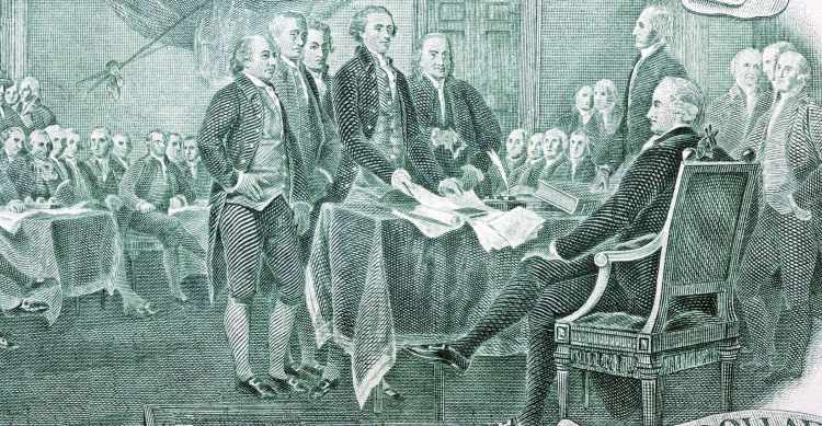 Lightworkers and Liberty, two dollar bill, signers declaration of independence
